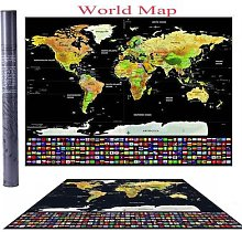 Affiche personnalisée de voyage Atlas pour
