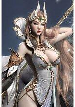 Affiche sur toile de combat d'anges, jeu