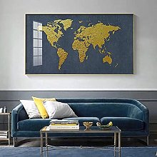 affiche toile peinture carte du monde affiches et