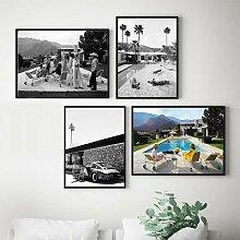 Affiches de fête au bord de la piscine, imprimés