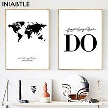 Affiches et imprimés de la carte du monde,