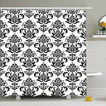 Ahawoso Ensemble de rideau de douche avec crochets
