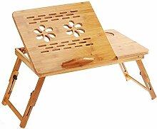 Aibecy Table de Lit Ordinateur Bois Pliable