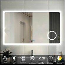 Aica miroir de salle de bain 100cmx60cm avec led