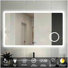 Aica miroir de salle de bain 120cmx70cm avec led