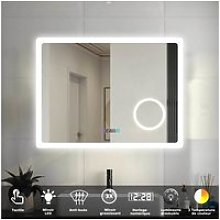 Aica miroir de salle de bain 80cmx60cm avec led