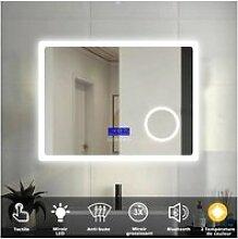 Aica miroir de salle de bain 80cmx60cm