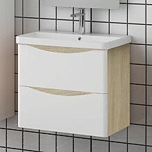 Aica Sanitaire - Meuble salle de bain 59x34.5x50cm