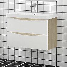 Aica Sanitaire - Meuble salle de bain 80x39.5x50cm