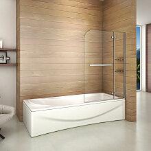 Aica Sanitaire - Pare baignoire 120x140cm paroi de