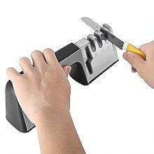 Aiguiseur de couteaux à poignée durable et