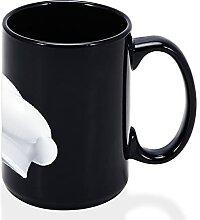 Aihesui Tasse à café noire - Cadeau amusant pour