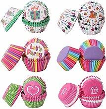 AILANDA 600pcs Caissettes Cupcake Papier 6 Styles