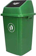 AINIYF Trash vert avec couvercle, 60 litres / 100