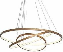AIRUI 3 Anneaux Lustre LED Cercle Suspension
