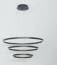 AIRUI Cercle Lustre LED 3 Anneaux Suspension