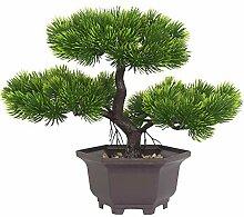 Aisamco Artificiel bonsaï Arbre Faux Plante