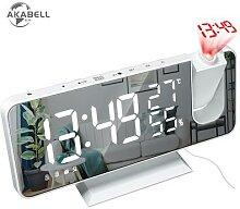 AKABELL 3D Projection Réveil Radio Horloge