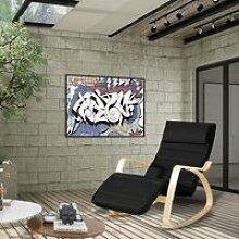 AKALNNY Fauteuil à bascule - Rocking Chair noir-