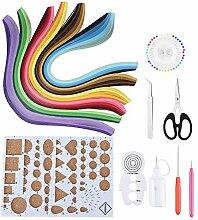 Akozon 14PCS Papier Quilling DIY Kits avec 6