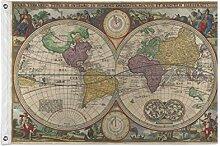 ALarge drapeau de jardin abstrait carte du monde