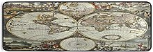 ALARGE - Tapis de sol de cuisine - Motif carte du