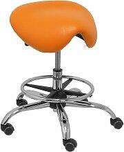 Alatoz similpiel tabouret orange
