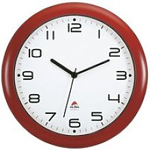 ALBA Horloge silencieuse 30cm quartz - Rouge