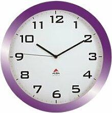 ALBA Horloge silencieuse 38cm quartz - Prune