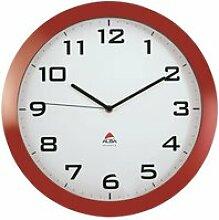 ALBA Horloge silencieuse 38cm quartz - Rouge