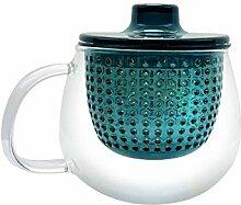 Alberto Monica: Tasse à thé avec infuseur, Verre