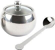 ALEOHALTER Sucre Sucrier Pot à Condiments Durable