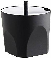 Alessi MT21 Sucrier, Acier Inoxydable, Noir, 8,5 x