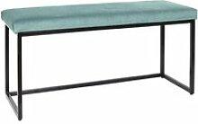 Alessia - banc avec assise velours côtelé bleu