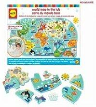 Alex la carte du monde dans le bain 200020-5