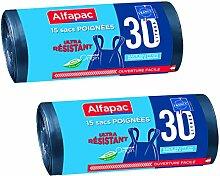 Alfapac 3232767410304 ALFAPAC-15 30L Poubelle à