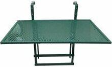 Alinda - table de balcon pliable verte