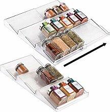 Alixin-Support à épices pour tiroir,étagère à