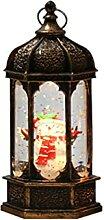ALKM Petite lampe à vent de Noël à injection
