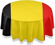 All3DPrint Nappe Ronde Drapeau Belgique 150 cm