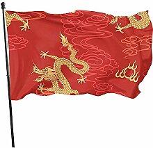 ALLdelete# Flags Drapeau Rouge Chinois Durable