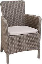 ALLIBERT Dining Trenton Chaise de Jardin Beige