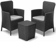 Allibert mobilier pour balcon miami 5 pcs graphite
