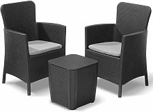 Allibert Mobilier pour balcon Miami 5 pcs Graphite