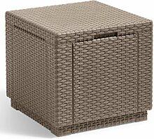 Allibert Pouf de Rangement Cube Cappuccino 228749