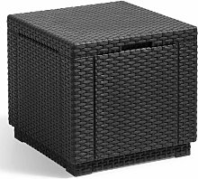 Allibert Pouf de rangement Cube Graphite 213816