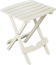 Allibert Quick Fold Side Table Pliante, Blanc