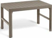 Allibert table de jardin lyon cappuccino 232296