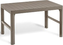 Allibert Table de jardin Lyon Cappuccino 232296