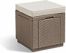 ALLIBERT Tabouret, Cube Cushion, Cappuccino/Sable,